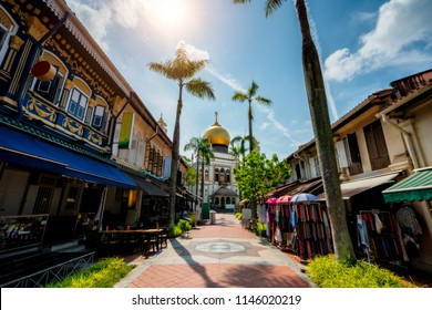 The Masjid Sultan mosque located in Kampong Glam in Singapore city.