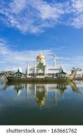 Masjid Sultan Omar Ali Saifuddin Mosque in Bandar Seri Begawan, Brunei Darussalam. Brunei plan to implement sharia law soon.