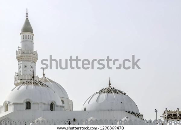 Masjidequba First Mosque History Islam Madina Stock Photo