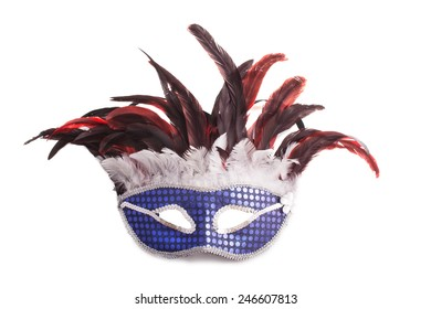 mask for carnival  isolated over white