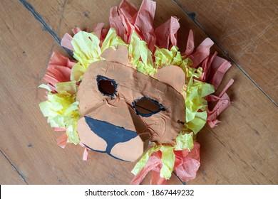 mask color lion carnaval children