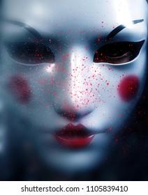 Mask of the death,3d illustration