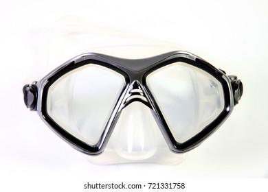 Mask diving Diving glasses Snorkeling equipment Black gray White scene