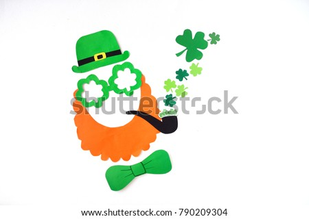 Mask Handmade Leprechaun Paper St Patricks Stock Photo Edit Now