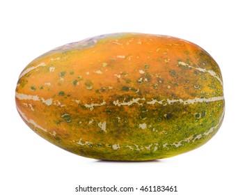 Mask Melon Isolated on White Background