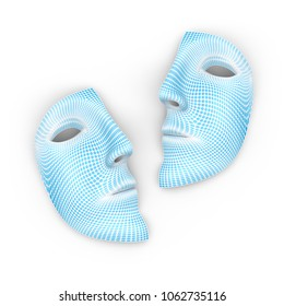 The mask on a white background.