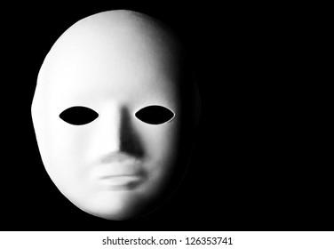 Mask over a black background.