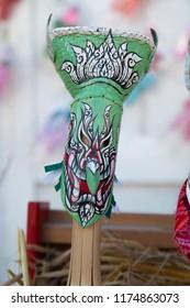 The Mask Phi Ta Khon in Phi Ta Khon Festival and International