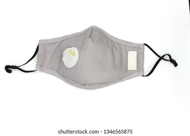 mask prevent, protection factor for N95 Filtering face mask-safty white mask on white background with clipping path