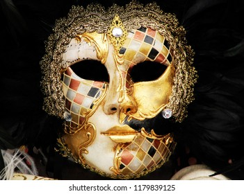 A mask ready for Carnival
