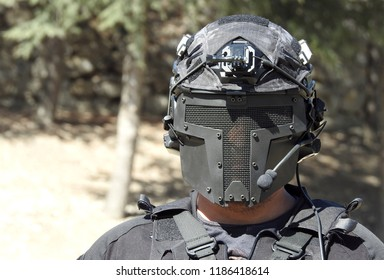 Masked Airsoft Player