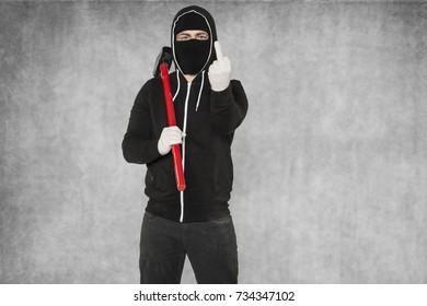 A masked man