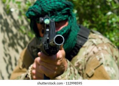 masked shooter, terrorist