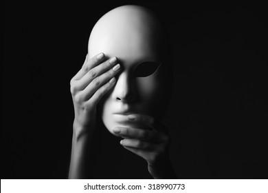 mask.halloween concept