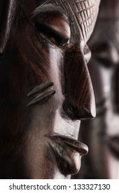 masks african full frame closeup