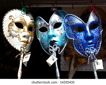 Masks exposed in a shop in Venice (Italy)