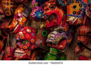 Masks, souvenirs of Maya civilization
