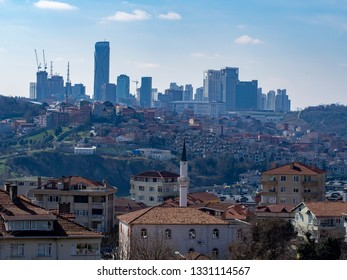 Maslak district skyscrapers city view from Istanbul