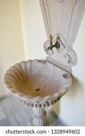 maslak kasri ottoman old white fountain istanbul turkey