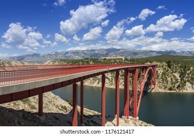 Maslenica bridge near to Zadar in Croatia
