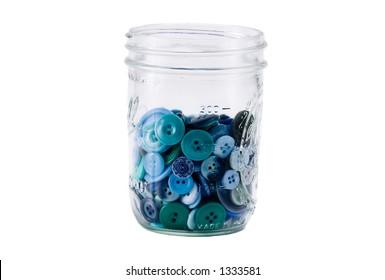 Mason Jar Full of Buttons