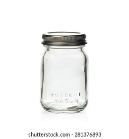 mason jar isolated on white background