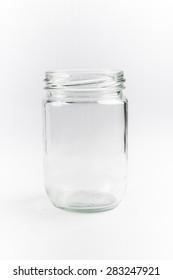 mason jars isolated on white background