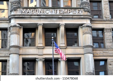Masonic Temple in a historic building in Minneapolis, Minnesota