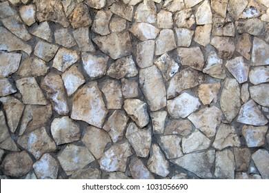 masonry on the wall