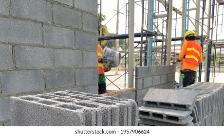 masonry produced by a bricklayer, Working dimensions is the size of a manufactured brick, photo is depth of field style
