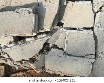 Masonry wall  cracking