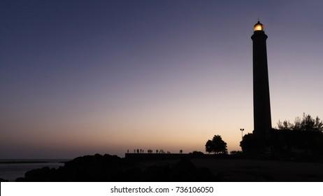 The Maspalomas Lighthouse - on the Canary Island of  Gran Canaria