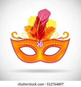 Masquerade Carnival Mask Icon  Illustration