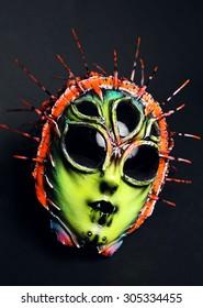 Masquerade colorful scary masks