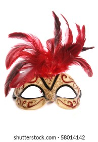 masquerade mask studio cutout on white background