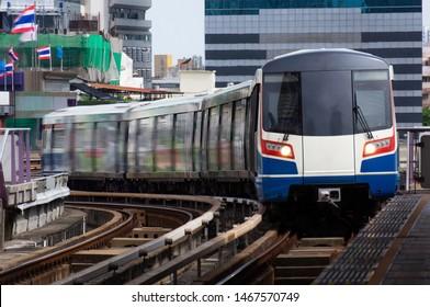 Mass rapid transit rail system in urban areas.