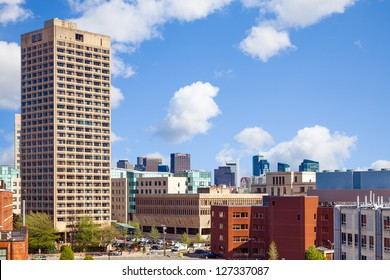 Massachusetts Institute of Technology (MIT) view of buildings and skyline in Kendall Square