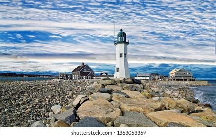 Massachusetts lighthouse scituate