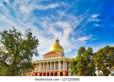 Massachusetts State House in Boston downtown, Beacon Hill