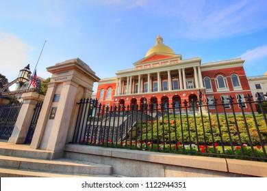 Massachusetts State House in Boston, USA
