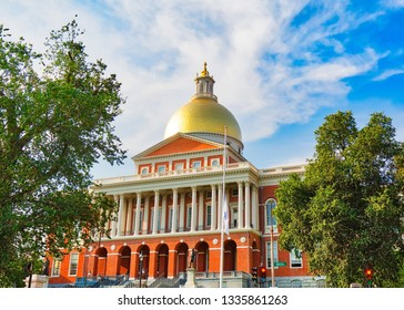 Massachusetts State House, a landmark attraction frequently visited by numerous tourists