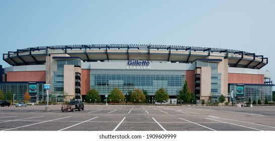 Massachusetts, United States-September 17, 2020: Gillette Stadium, the home stadium of New England patriots