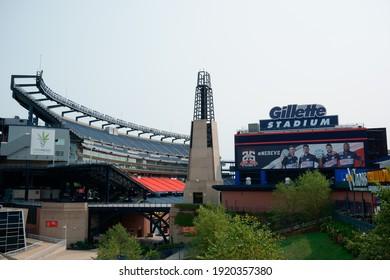 Massachusetts, United States-September 17, 2020: Gillette stadium of New England Patriots foxborough