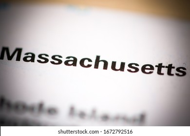 Massachusetts. Massachusetts. USA on a geography map