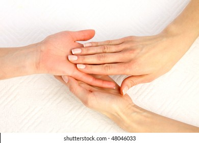 Massage - Beauty treatment photo of nice manicured woman palms