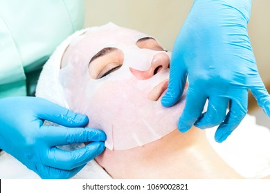 Massage and facial peels at the salon using cosmetics