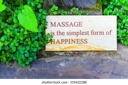 Massage is the happiness spa sign