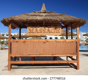 Massage place on a tropical beach