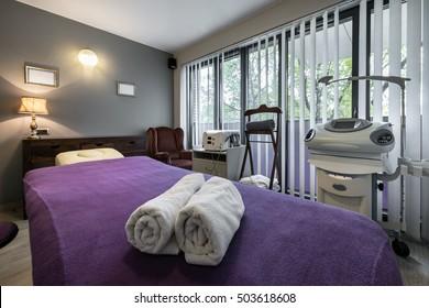Massage Room Interior Design Wellness Spa Stock Photo Royalty Free