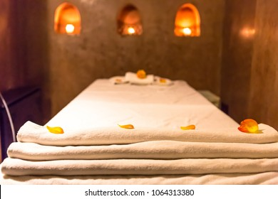 Massage room interior in Marocco